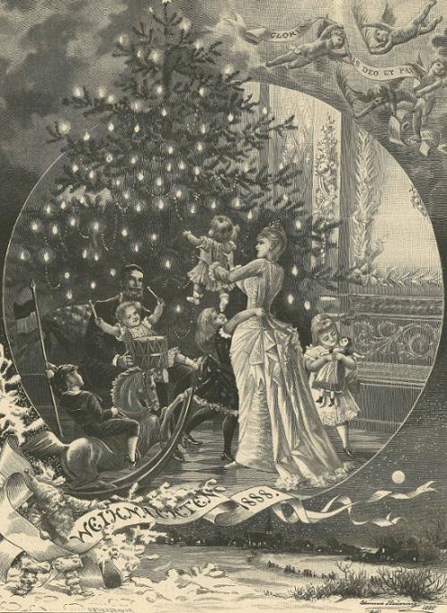Am Weihnachtsabend, Edmund Bruening 1888