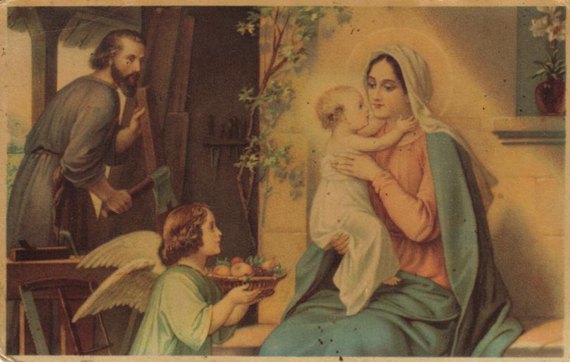Heilige Familie, Postkarte