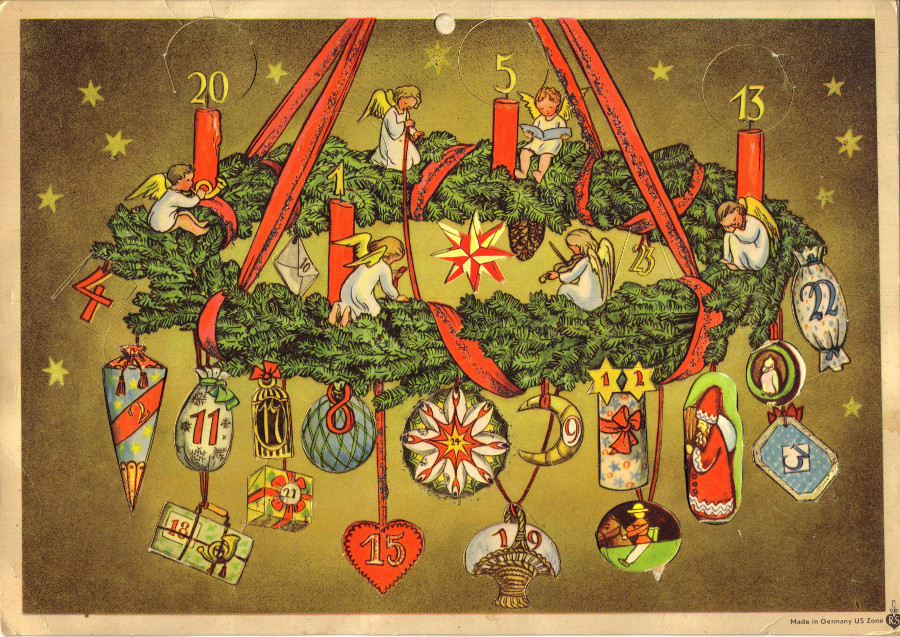 Adventskalender um 1950, Elisabeth Lörcher, Richard Sellmer Verlag