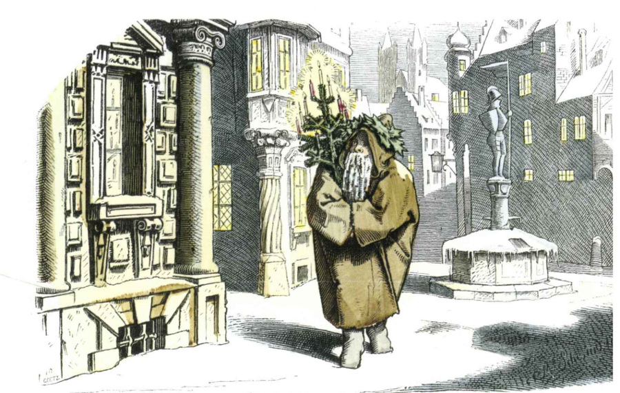 Mr. Winter, art design Moritz von Schwind, Münchner Bilderbogen 1847