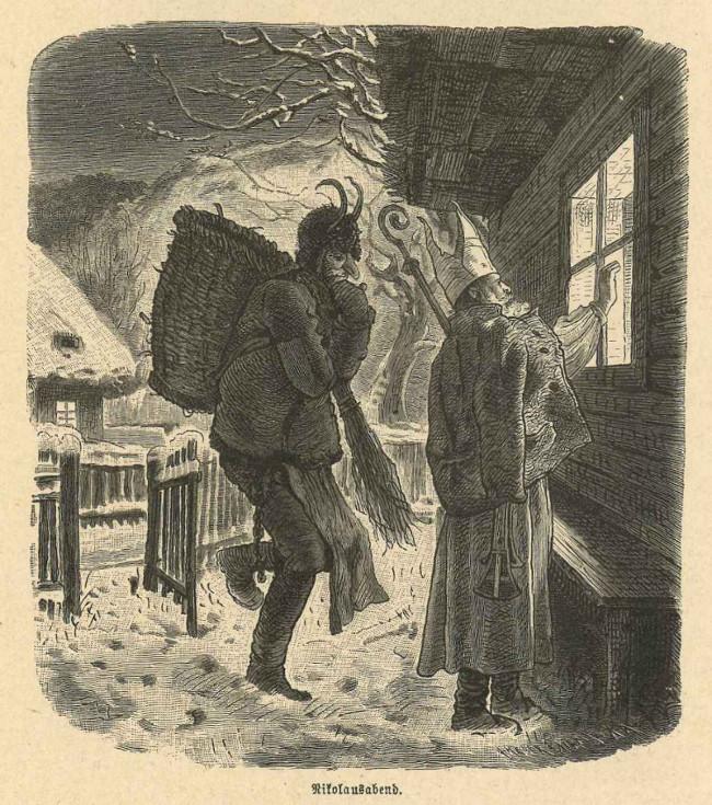 Nikolausabend, Krampus mit Nikolaus