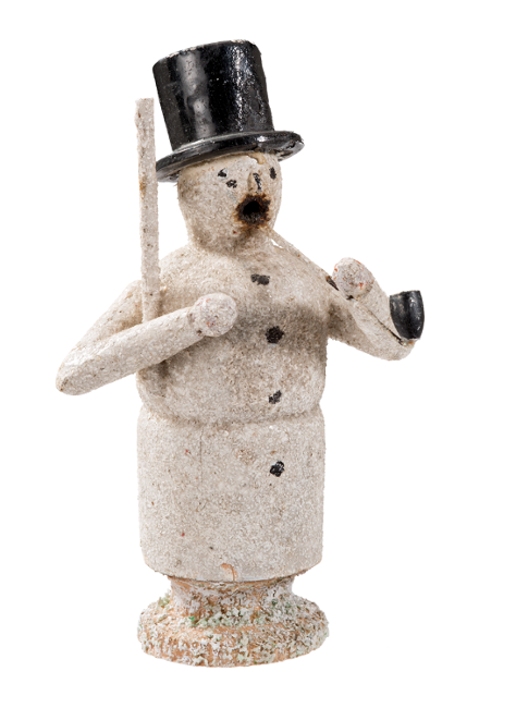 Incense smoker, snowman, turned on a lathe