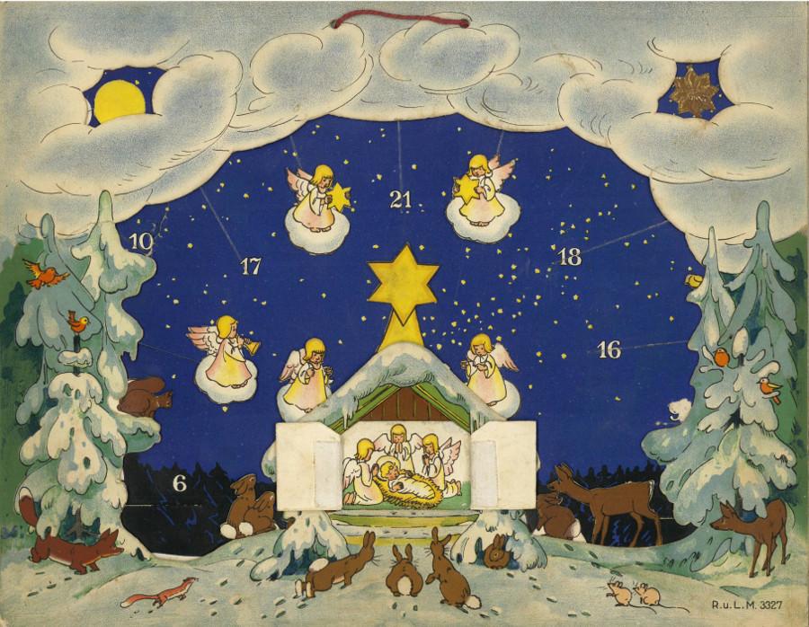 Vom Himmel hoch, 1933, Dora Baum, Kalender zum einschieben der Figuren