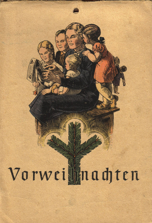 Pre-Christmas calendar, 1945, publisher of NSDAP Franz Eher