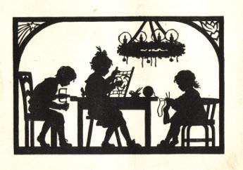 Zeichnung Adventskranz, 1959