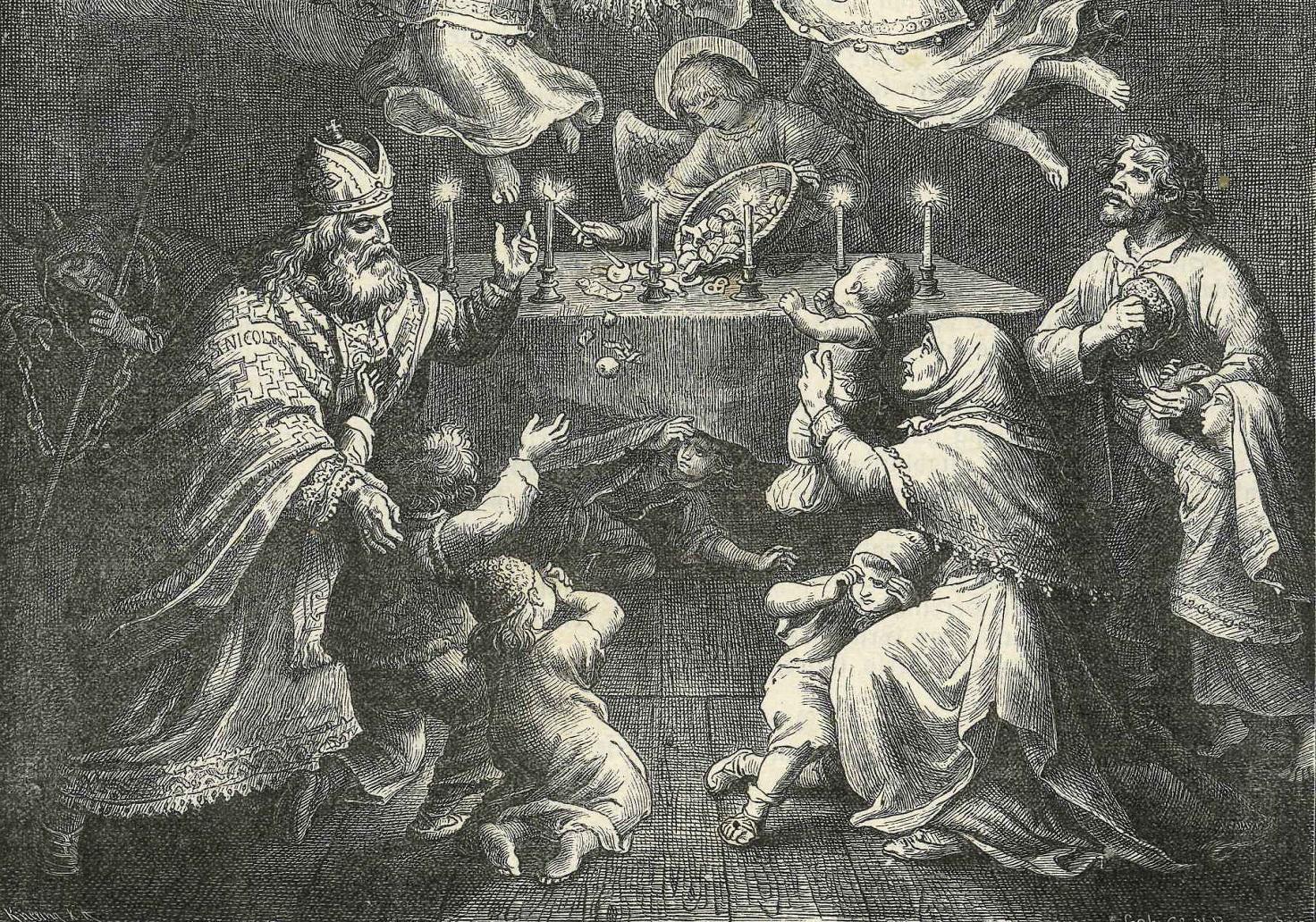 Führet die Kindlein zum Jesukinde, Nikolaus, Engel, Krampus