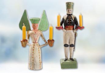 Lichterengel und Lichterbergmann